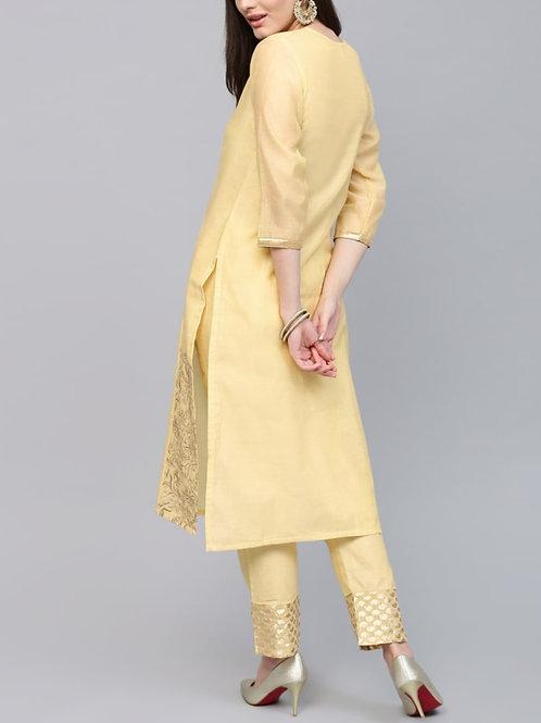 Women's Chanderi Silk Designer Kurti