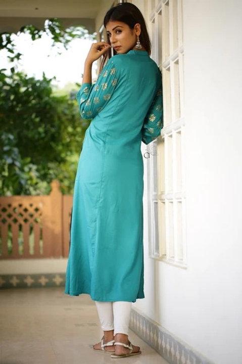 Women's Rayon Long Kurti