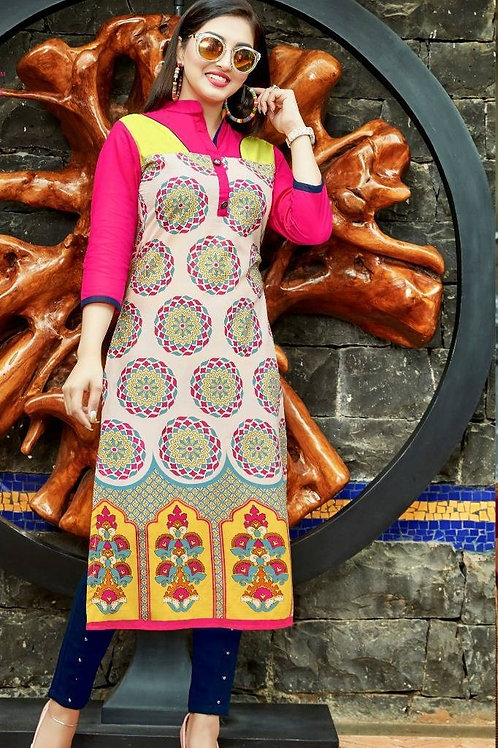 Women's Cotton Printed Designer Kurti