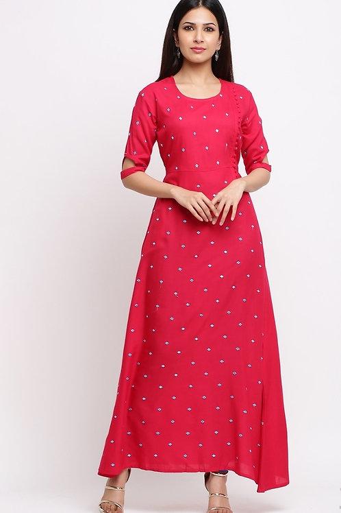 Women's Rayon Designer Long Kurti