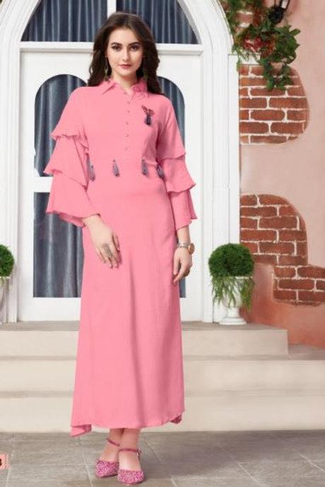 Women's Rayon Solid Kurti