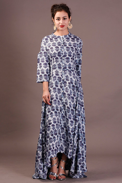 Women's Rayon Printed Cold Shoulder Kurti