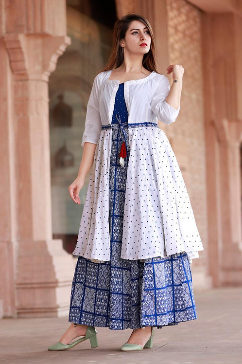 Women's Rayon Printed Designer Kurti With Shrug