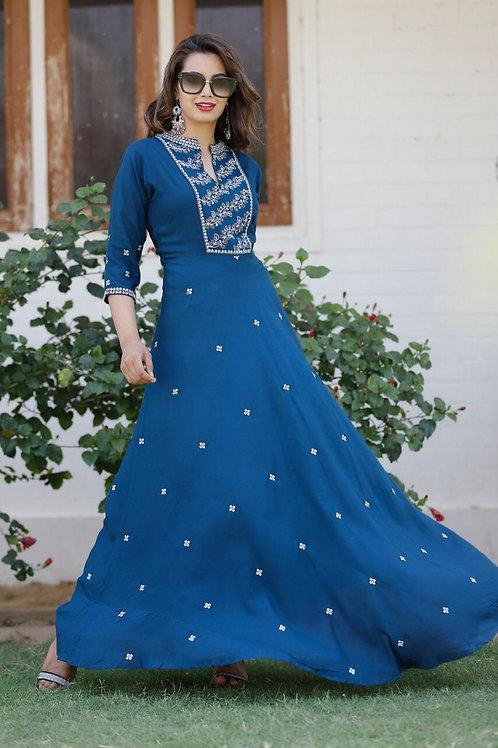 Women's Premium Rayon Designer Long Kurti