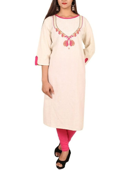 Women's Khadi Cotton Plus Size Kurti