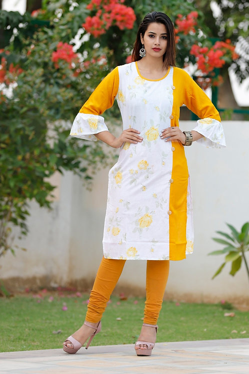 Women's Casual Cotton Printed Kurti