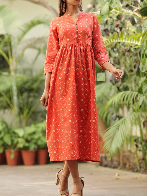 Women's Floral Printed Cotton Kurti
