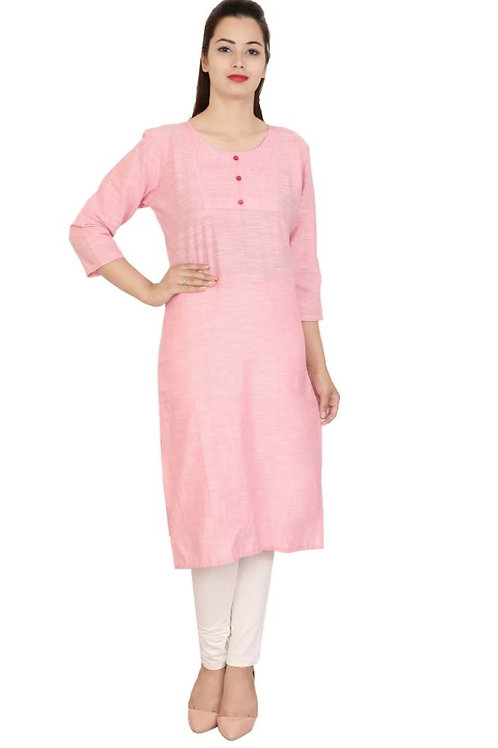 Women's Khadi Cotton Solid Kurti