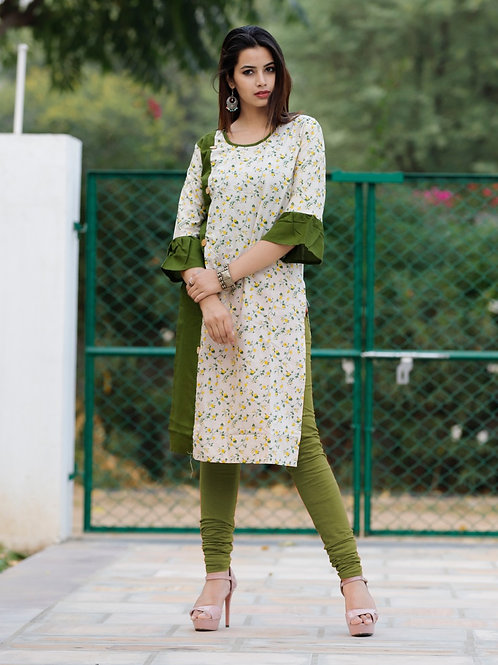 Women's Casual Cotton Printed Kurti