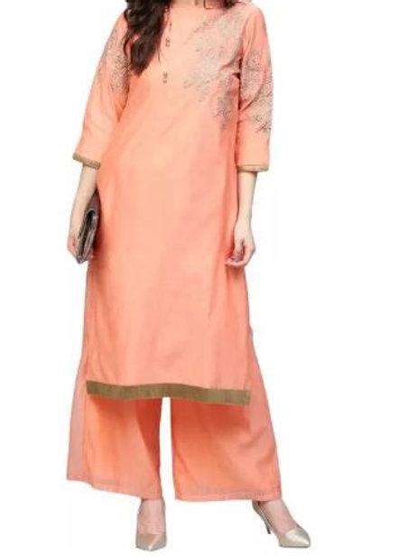 Women's Chanderi Silk Embroidered Kurti
