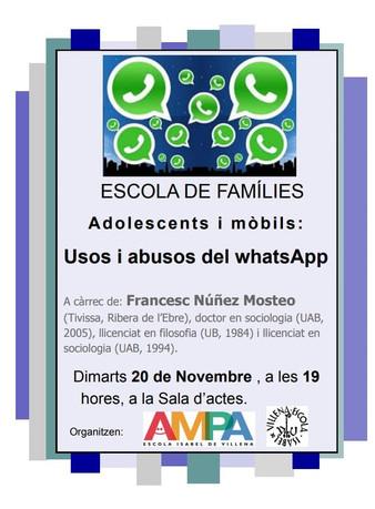 Famílies, menors i mòbils