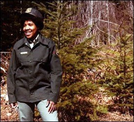 A Black Woman Who Tried To Survive In The Dark, White Forest