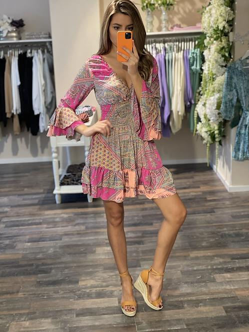 Silkdress Sophia Pink
