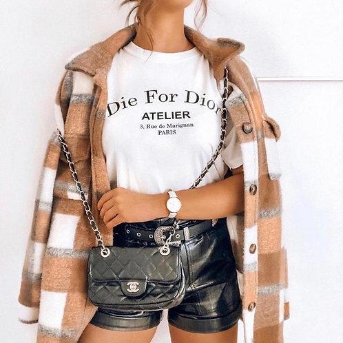 T-Shirt Estefania White/Black