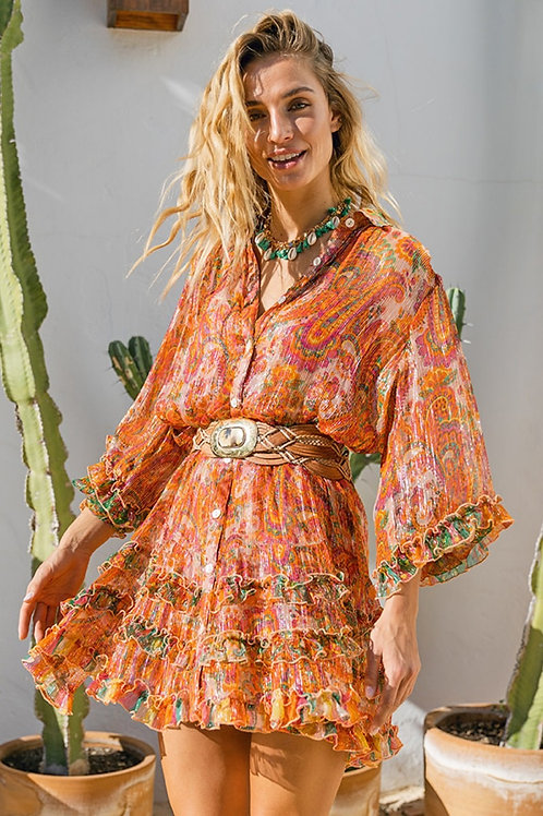 Miss June Dress Romi Peach