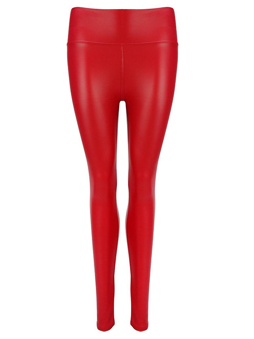 Eco-Leatherlegging Lipstick-Red