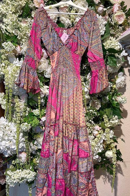 Silkdress Sophia Pink Long