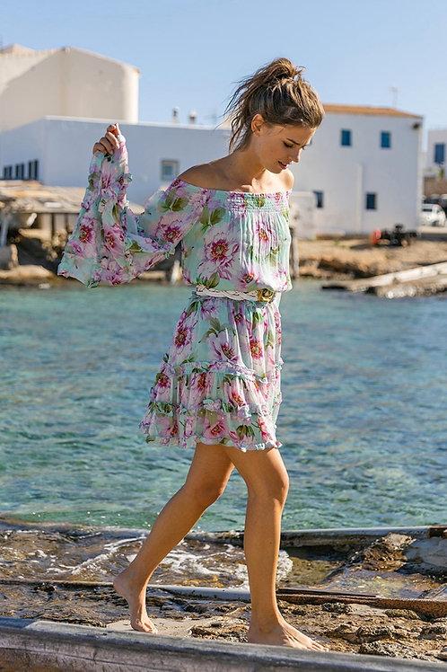 Miss June Dress Fleur Vert