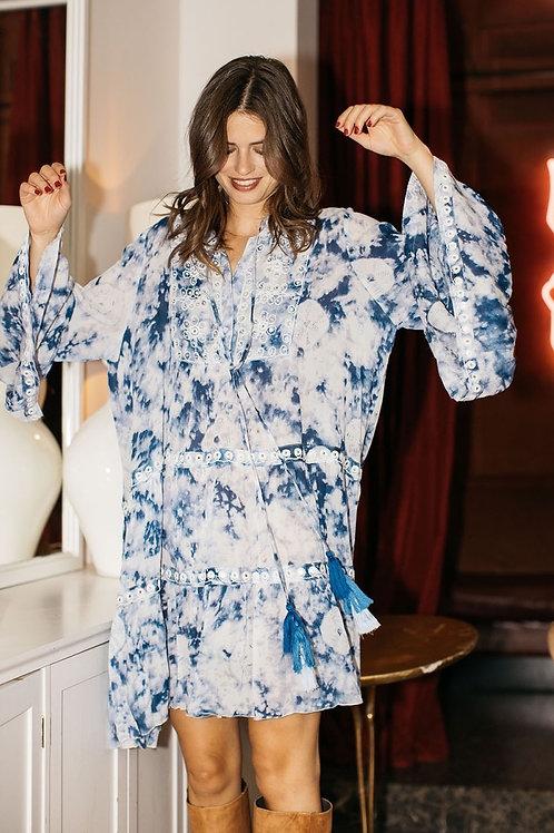 Muss June Dress Flowy Blue