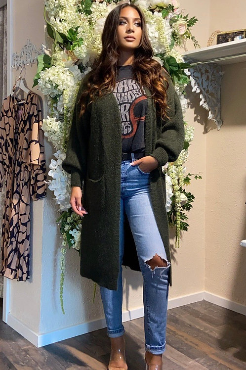 Cardigan June Vibes Olive