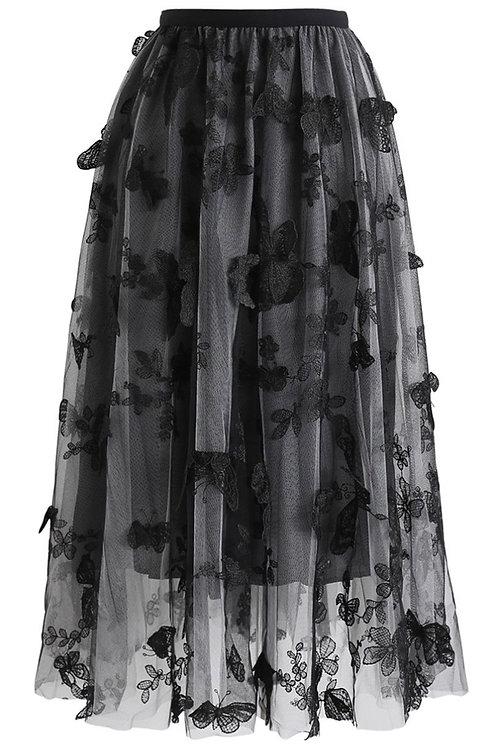 Skirt Butterfly Black