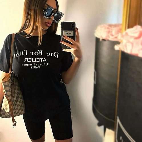 T-Shirt Estefania Black/White
