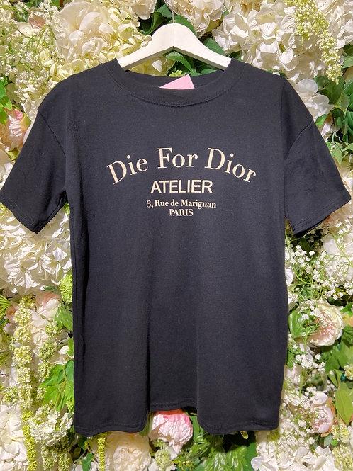T-Shirt Estefania Schwarz/Beige