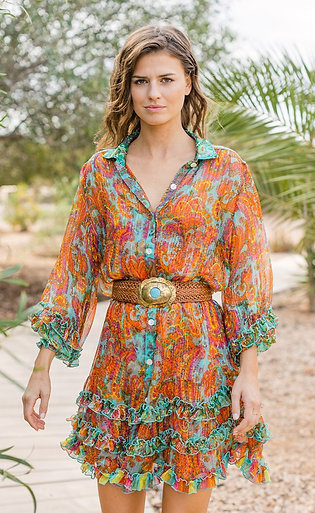 Miss June Dress Romi Aqua