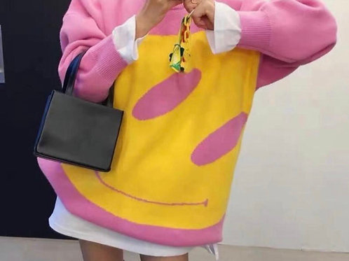 Sweater/Dress Smiley Pink