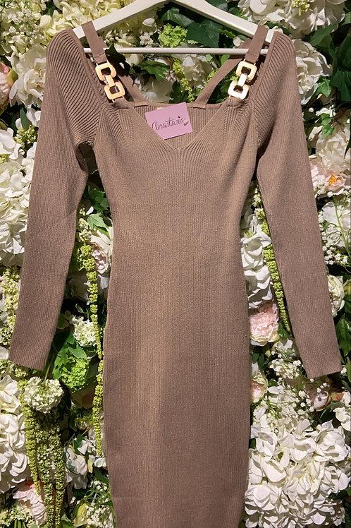 Dress Elisabetta Taupe