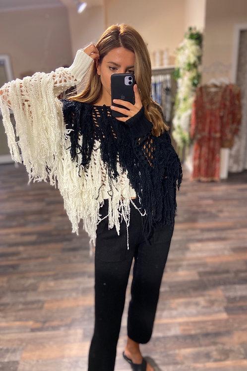 Sweater Jillian Black-Ivory