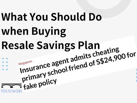 What You Should Do when Buying Resale Savings Plan