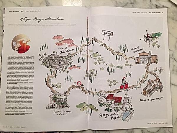 Borgo Santo Pietro, mappa Vespa Tour