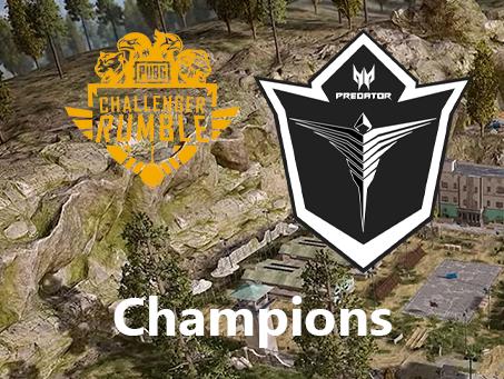 ArkAngel Predator wins PUBG Challenger Rumble Season 1