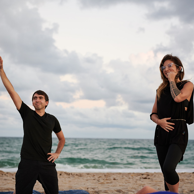 Full Moon Beach Yoga Delray Beach October