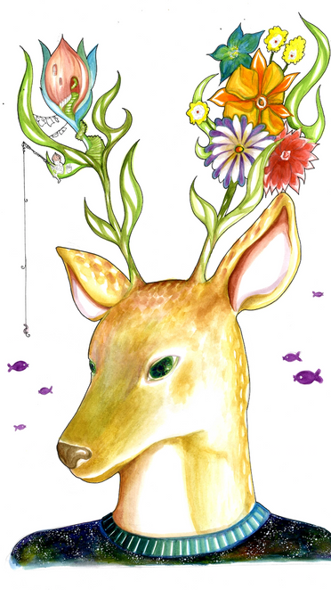 Personal Illustration - Deer