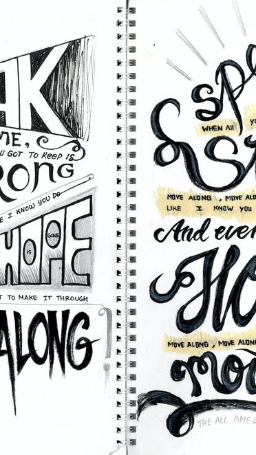 Expressive Typography Sketch