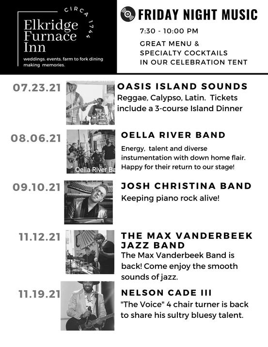 Friday Night Music Lineup