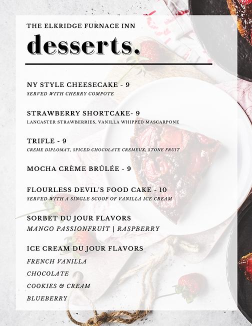 Desserts 7.28