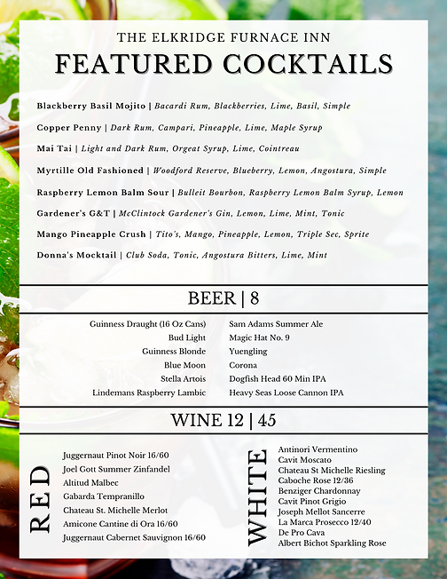 Featured Cocktails 7.28