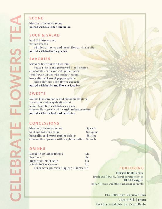 Celebrate Flowers Tea & Luncheon