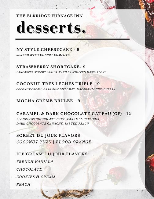 desserts 8.20