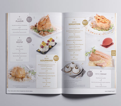 creation graphique menu restaurant flunc