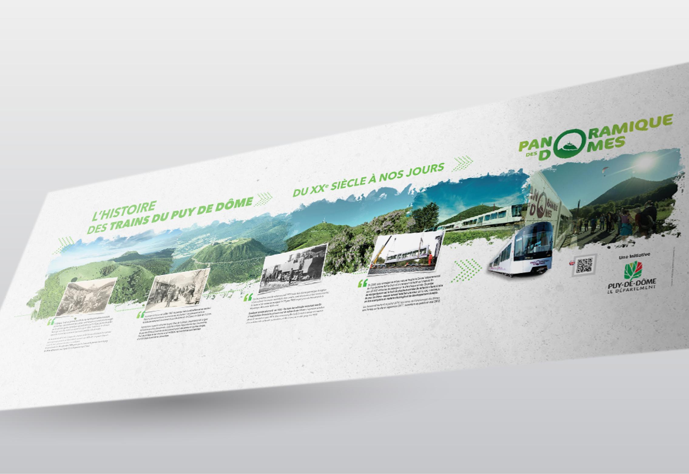Panneau Train du puy de Dôme