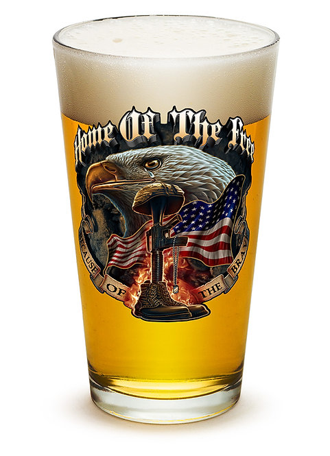 Home of the Free Because of the brave 16oz