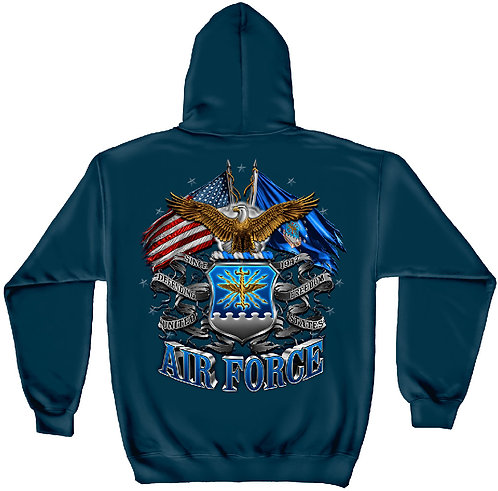 DOUBLE FLAG AIR FORCE EAGLE HOODIE