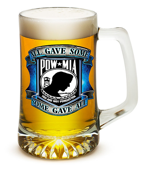 All GAVE SOME blue POW 25oz large Tankard