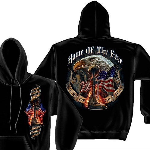 HOME OF THE BRAVE, BECAUSE OF FREE HOODIE