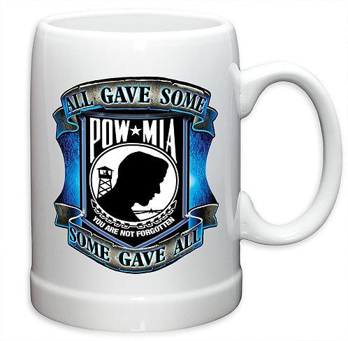 All gave some blue POW 20oz Stoneware Mug