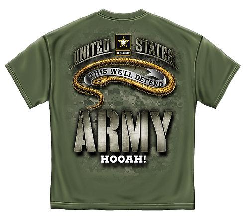 ARMY CAMO HOOAH